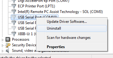 Uninstall unused device